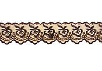 Кружево 4,5 мм шоколадное 9 м
