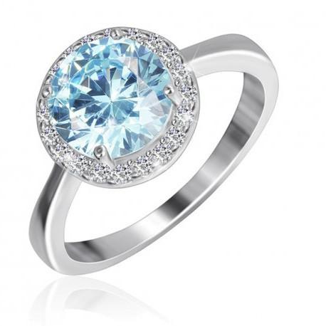 """Серебряное кольцо с имитацией топаза """"408"""""""