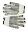 Перчатки текстильные с двусторонним вкраплением, белые, L,Technics,16-004,Киев.