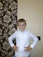 Детская школьная рубашка белая