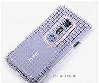ROCK Magic Cube TPU soft Case for HTC EVO 3D X515M G17 Transparent