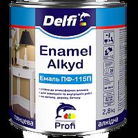 Эмаль алкидная Delfi ПФ-115П, темно-серая 2,8 кг