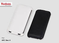Yoobao Lively leather case for HTC One V T320e, white (LCHTCONEV-LWT)