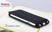 Yoobao Lively leather case for HTC Sensation XL X315e, black (LCHTCX315E-LBK)