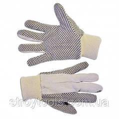 Перчатки х/б с резиновым вкраплением,L,Technics,16-050,Киев. Продается упаковками по 12шт.