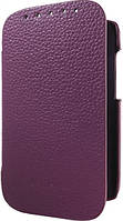 Melkco Book leather case for HTC Desire SV, purple (O2DSSVLCFB2PELC)