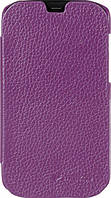 Melkco Book leather case for HTC One Mini, purple (O2O2M4LCFB2PELC)