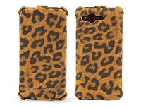 Nuoku LEO stylish leather case for HTC Rhyme G20, brown