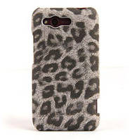 Nuoku LEO stylish leather cover for HTC Rhyme G20, grey