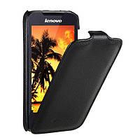Jacka leather case for Lenovo A390, black Melkco (LNA390LCJT1BKPULC)