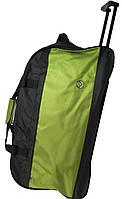 Дорожная сумка на колесах, 70 л. Paso, Польша 49-373C черный с салатовым