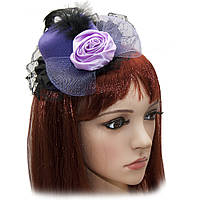 Шляпка Гламур маленькая с розой