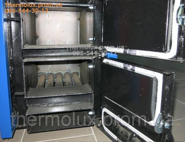 Дверцы загрузочные и дверцы зольника твердотопливных котлов Вектор ТТК в открытом виде