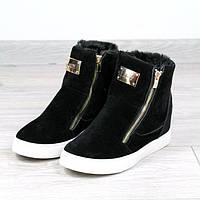 Ботинки женские Lady теплая зима 39 размер черные, ботинки женские
