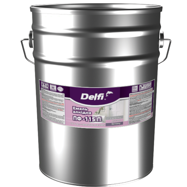 Емаль алкідна Delfi ПФ-115П, коричнева 25 кг