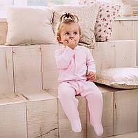 Детский комбинезон для новорожденных розовый