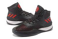 Мужские баскетбольные кроссовки Adidas D Rose 8 (Black/Red), фото 1