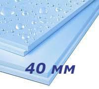 Батэплекс 40 мм утеплитель экструдированный пенополистирол для пола, фундамента, балкона