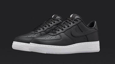 Кроссовки мужские в стиле NikeLab Air Force 1 Low Black, фото 3