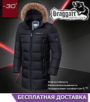 Зимняя мужская куртка длинная