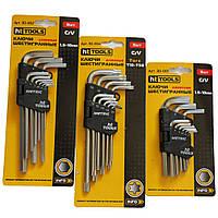 Ключи шестигранные 1.5-10 мм длинные СrV 9 шт HTtools