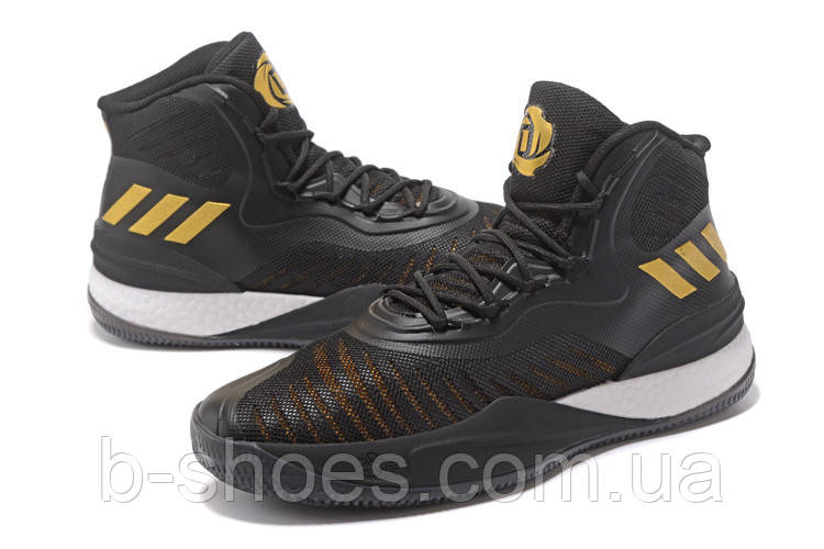 Мужские баскетбольные кроссовки Adidas D Rose 8 (Black/Gold)