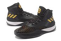 Мужские баскетбольные кроссовки Adidas D Rose 8 (Black/Gold), фото 1