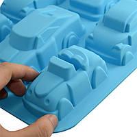 Силиконовая форма для выпечки Тачки машинки, фото 1