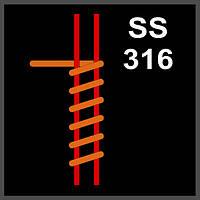 SS316 Fused Clapton Coil GeekVape (2*0.5X0,2) 0.15Ом