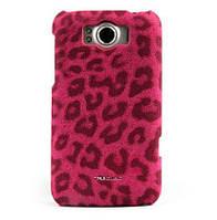 Nuoku LEO stylish leather cover for HTC Sensation XL G21, pink