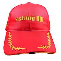 "Кепка с фонариком Fishing ROI ""Fishing Сap with LED  Light"" red+gold"
