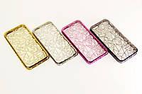 Силиконовый чехол алмазная грань для Samsung J3