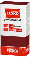 Салфетки FESKO Professional красные 2-слойн. 33 * 33 (250л) (4п)