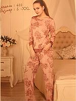 Пижама женская с брюками вискоза тм Роксана