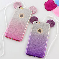 Mickey TPU Case с блестками for Samsung J5