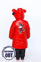 Зимнее длинное пальто Микки для девочки