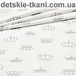 Бязь с разными серыми коронами на белом фоне (№179а), фото 5