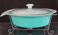 Мармит керамический овальный (бирюзовый) 2 л  Krauff 21-258-003