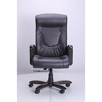 Кресло Галант DT орех Кожа Люкс комбинированная Темно-коричневая (AMF-ТМ)