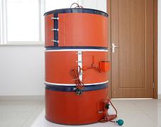 Силиконовый электрический нагреватель для бочки 200 литров. размер 174см×25 см 2000 Вт.