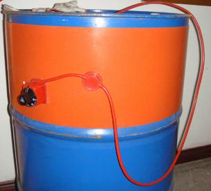 Силиконовый электрический нагреватель для бочки 200 литров. размер 174см×25 см 2000 Вт., фото 2