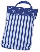 Кармашек для памперсов в детскую сумку Якоря