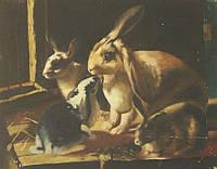 """Картина """"Кролики"""", 20*25 см"""