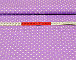 Ткань с горошком 3 мм на сиреневом фоне (№199а), фото 5