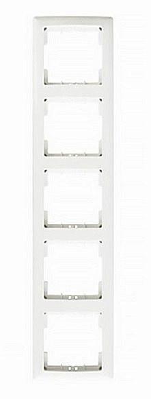 РВ05-00-0-ББ Рамка вертикальная 5 постов серия BOLERO (белый) IEK