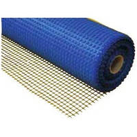 Сетка стеклотканевая 5 х 5 мм фасадная 1 м x 50 м 145 г/м синяя HTtools