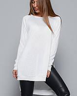 Удлиненная женская кофта молочного цвета (9191343)
