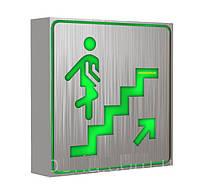 """NIGAS Светодиодный аварийный светильник, знак """"Лестница"""". Указатель LED-NGS-33 UPWARD(вверх, вгору),1W(вт)"""