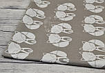 Ткань с лисичками на сером фоне (№ 1)., фото 5