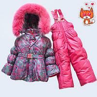 Зима комбинезон и куртка для девочек модные